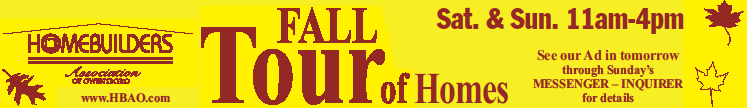 Fall Tour of Homes 2016 Banner